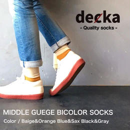 "decka ""MIDDLE GUEGE BICOLOR SOCKS"""