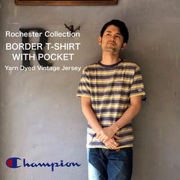 "Champion Rochester Collection ""BORDER T-SHIRT WITH POCKET"" Navy"
