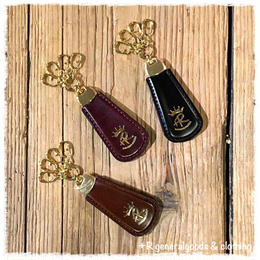 +R Shoehone Keyring gold