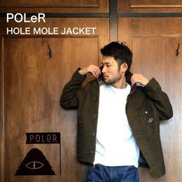 """POLeR """"HOLE MOLE JACKET"""" Olive"""