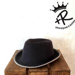 """+R """"センタークリースニットハット"""" Black"""