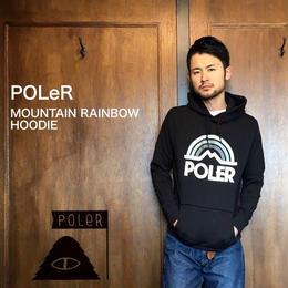 "POLeR ""RAINBOW MOUNTAIN HOODIE"" Black"