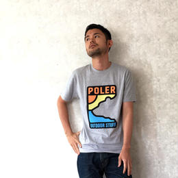 "POLeR ""GEO BEAR TEE"" Gray Heather"