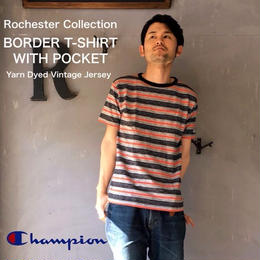 "Champion Rochester Collection ""BORDER T-SHIRT WITH POCKET"" Black"