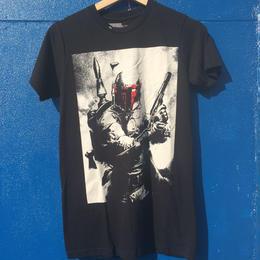 海外商品 Tシャツ スターウォーズ ボバ フェット モノクロ XS