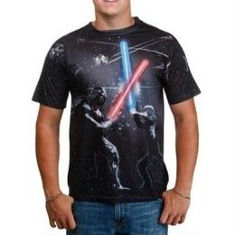 【USA直輸入】STAR WARS ライトセイバー Tシャツ フルプリント ダースベイダー ルーク タイファイター