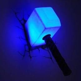 【USA直輸入】MARVEL マイティソー ムジョルニア ルームライト 3D FX ライト