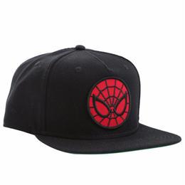 【USA直輸入】MARVEL スパイダーマン ロゴ キャップ スナップバック 帽子 マーベル