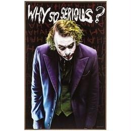 【USA直輸入】DC ジョーカー 木製 ウォールデコ Why So Serious? 看板  ポスター  Joker バットマン インテリア 壁掛け