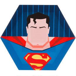【USA直輸入】DC スーパーマン 6角形 キャンバス ウォールデコ 看板 ポスター   壁掛け インテリア
