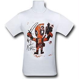 【USA直輸入】MARVEL デッドプール 落書き Tシャツ