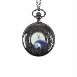 【海外商品】ナイトメア ビフォア クリスマス 懐中時計 ネックレス ウォッチ ディズニー 正規ライセンス