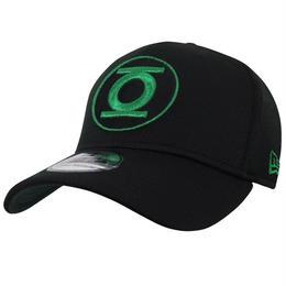 【USA直輸入】DC グリーンランタン 黒 ロゴ キャップ 39Thirty Fitted ニューエラ NEWERA ベースボールキャップ 帽子 DCコミックス
