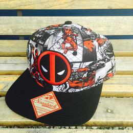 【USA直輸入】デッドプール ロゴ 総柄 キャップ ハット 帽子 スナップバック