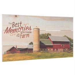 【USA直輸入】木製  ウォールデコ 農場の最高の思い出 ファーム 看板  ポスター  壁掛け インテリア