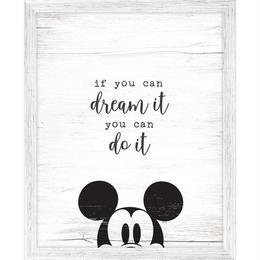 【USA直輸入】DISNEY 夢は必ず叶う ウォルト・ディズニー 名言 木製 ウォールサイン 看板 ポスター ミッキー ディズニー