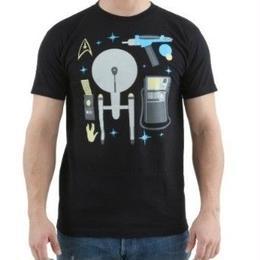 【USA直輸入】STAR TREK スタートレック Tシャツ プロップ 小道具 エンタープライズ スタトレ トレッキー トレッカー