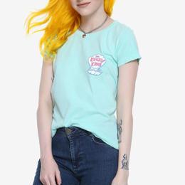 【USA直輸入】スポンジボブ クラスティ クラブ レディース Tシャツ カニカーニー The Krusty Krab カーニバーガー