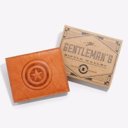 【USA直輸入】MARVEL キャプテンアメリカ パスケース 財布 ウォレット 本革 タン革 leather レザー マーベル