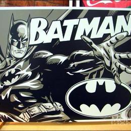 アメリカンブリキ看板 バットマン ツートンカラー モノトーン