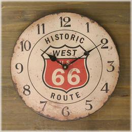 ★【Rejection Cafe Clock Route 66】ホワイト★レジェクション カフェ クロック★ルート66★大人気 レトロ調★