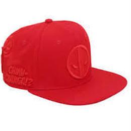 【USA直輸入】MARVEL デッドプール エンボス ロゴ キャップ 帽子 スナプバック デップ マーベル
