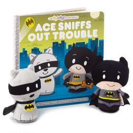 【USA直輸入】DCコミックス バットマン エース 絵本セット ぬいぐるみ ittybittys 約10cm hallmark