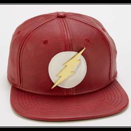 【USA直輸入】DC フラッシュ ロゴ キャップ スナップバック ハット 帽子 フェイクレザー FLASH  DCコミックス