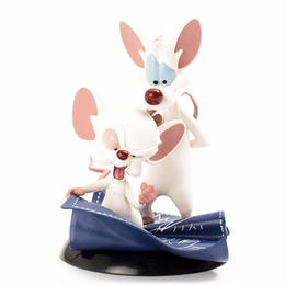 【USA直輸入】ピンキー&ブレイン Q-FiG トーキング オーバー ザ ワールド フィギュア PVC ピンキー ブレイン pinky and the brain