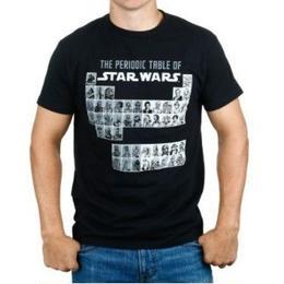 【USA直輸入】STAR WARS Tシャツ 元素記号 スターウォーズ キャラクター