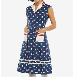 【USA直輸入】MARVEL キャプテンアメリカ レトロ ボタン ワンピース マーベル ドレス