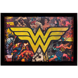 【USA直輸入】DC ワンダーウーマン ロゴ コミック 3D ウォールデコ 看板 ポスター   壁掛け インテリア