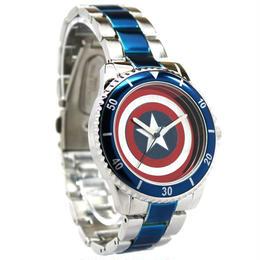 【USA直輸入】MARVEL キャプテンアメリカ シールド 盾 リストウォッチ 腕時計 マーベル 正規ライセンス
