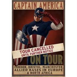 【USA直輸入】MARVEL マーベル キャプテンアメリカ ツアーキャンセル ムービー プロップ ポスター eFx  映画 クリス エヴァンス