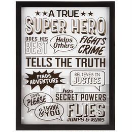 【USA直輸入】フレーム ウォールデコ トゥルー スーパーヒーロー 看板  ポスター  壁掛け インテリア  ヒーロー