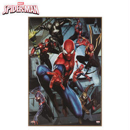 【USA直輸入】MARVEL スパイダーマン バース ウォールデコ 看板 ウッド インテリア 壁掛け ポスター マーベル