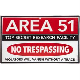 【USA直輸入】ブリキ看板 エリア51 壁掛け メタルサイン 看板 インテリア  Area 51 宇宙人