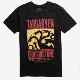 【USA直輸入】ゲームオブスローンズ ターガリエン Tシャツ ドラゴンストーン ゲースロ デナーリス ゲーム・オブ・スローンズ GOT