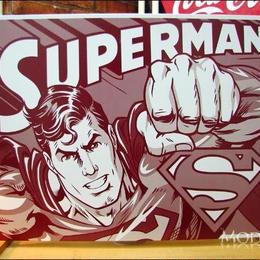 アメリカンブリキ看板 スーパーマン ツートンカラー ビギナー購入可    銀行振込  代金引換可  後払い可