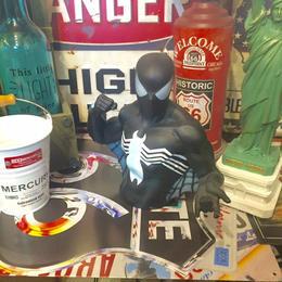ブラック スパイダーマン バストアップ バンク 貯金箱 SPIDERMAN