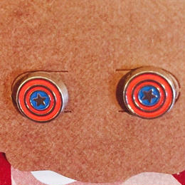 【USA直輸入】MARVEL キャプテンアメリカ シールド 盾 ロゴ ピアス スタッド マーベル 正規品