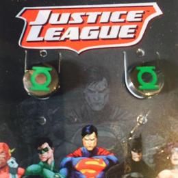 【USA直輸入】DCコミックス グリーンランタン スタッド ピアス 正規ライセンス品