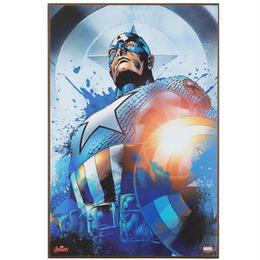 【USA直輸入】MARVEL キャプテンアメリカ コミック 木製 ウォールデコ 看板  ポスター  壁掛け インテリア   マーベル