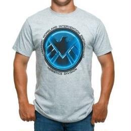 【USA直輸入】MARVEL シールド Tシャツ エージェントオブシールド ロゴ ブルー  マーベル