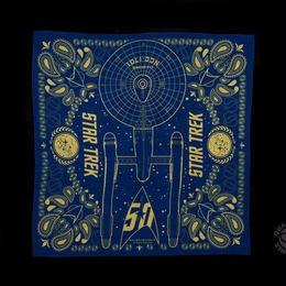 【USA直輸入】STAR TREK バンダナ エンタープライズ 50周年記念品