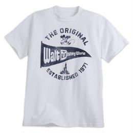 【USA直輸入】DISNEY WDW ウォルトディズニーワールド Walt Disney World  ペナント ホワイト Tシャツ ミッキー Pennant