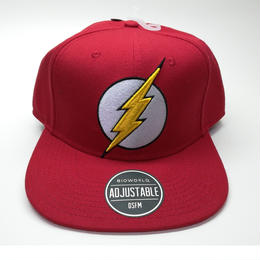 【USA直輸入】DC フラッシュ ブリング レッド ロゴ キャップ スナップバック ハット 帽子 FLASH  DCコミックス