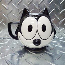フィリックス・ザ・キャット マグカップ FELIX THE CAT フェイス フィリックスグッズ コーヒーマグ マグ 陶器製 コーヒー