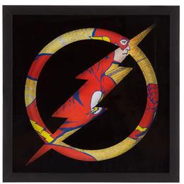 【USA直輸入】DC フラッシュ フレーム ウォールデコ 看板 ポスター   壁掛け インテリア    Flash