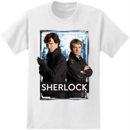 【USA直輸入】SHERLOCK シャーロック ワトソン ロゴ Tシャツ 221B カンバーバッチ BBC ベーカーストリート ジョン ホームズ